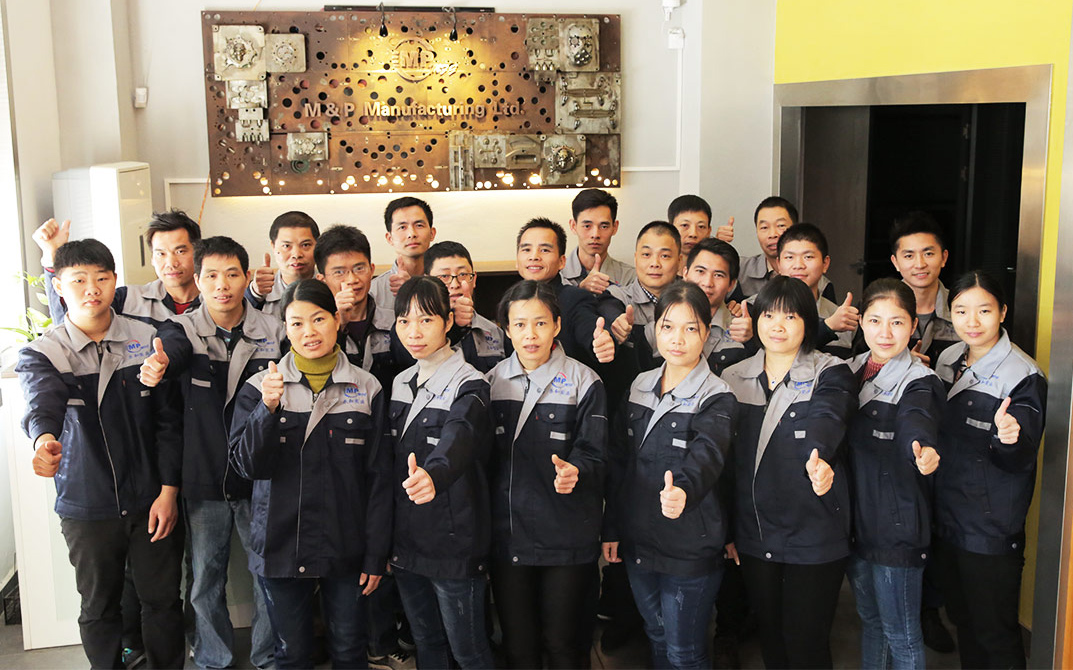 injection molding manufacturer team
